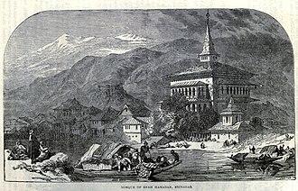 Khanqah-e-Moula - Sketch of Shah Hamadan mosque dating back to 1906