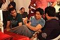 Shahrukh Khan, Adnan Safee and Bappaditya Roy. On the sets of Hyundai i13.jpg