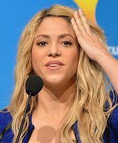 Shakira At A Press Conference For The  Fifa World Cup Closing Ceremony