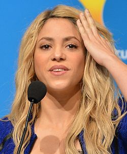 A cantaire colombiana Shakira en 2014.