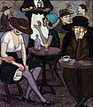 Shalva Kikodze, Artists' coffee-house in Paris, 1920.jpg