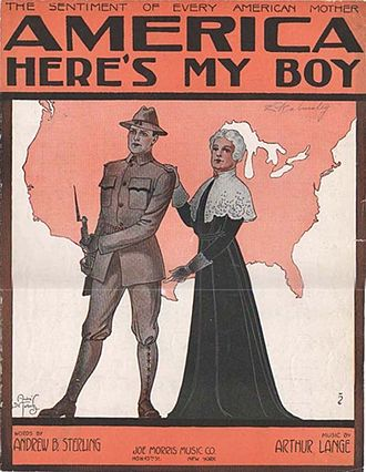 Selective Service Act of 1917 - Sheet music cover for patriotic song, 1917