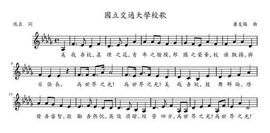 Sheet Music Of The Song Of NCTU.jpg
