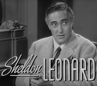 Sheldon Leonard American actor