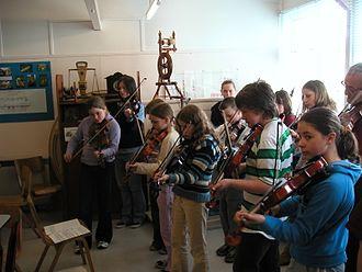 Tom Anderson (fiddler) - Shetland schoolchildren fiddlers, Unst, 2004
