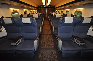 Mizuho (train) - Image: Shinkansen Sakura number first class car (N700 series No. 8000 stand)