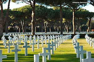 Sicily–Rome American Cemetery and Memorial - The Sicily-Rome American Cemetery and Memorial in Nettuno, near Anzio, Lazio, Italy (2006).