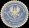 Siegelmarke K.Pr. Bürgermeister-Amt Bengel und Neuerburg zu Bausendorf Kreis Wittlich W0382475.jpg
