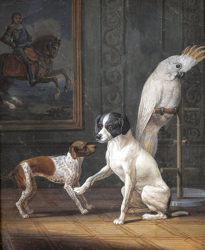 Зигвальд Даль - Zwei Hunde und Kakadu.jpg
