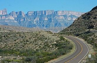 Sierra del Carmen - The Sierra del Carmen seen from the Big Bend in Texas.