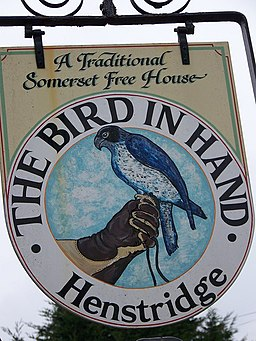 Sign for the Bird in Hand, Henstridge - geograph.org.uk - 702754