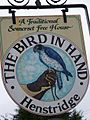 Sign for the Bird in Hand, Henstridge - geograph.org.uk - 702754.jpg