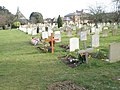Simple crosses in the cemetery beyond the churchyard at North Hayling - geograph.org.uk - 1155641.jpg