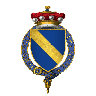 Henry Scrope, 3rd Baron Scrope of Masham - Arms of Sir Henry Scrope, 3rd Baron Scrope of Masham, KG