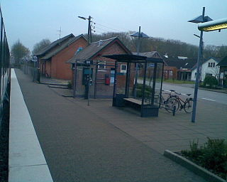 Sjørring station railway station in Thisted Municipality, Denmark