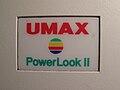Skener UMAX PowerLook II, značka.JPG