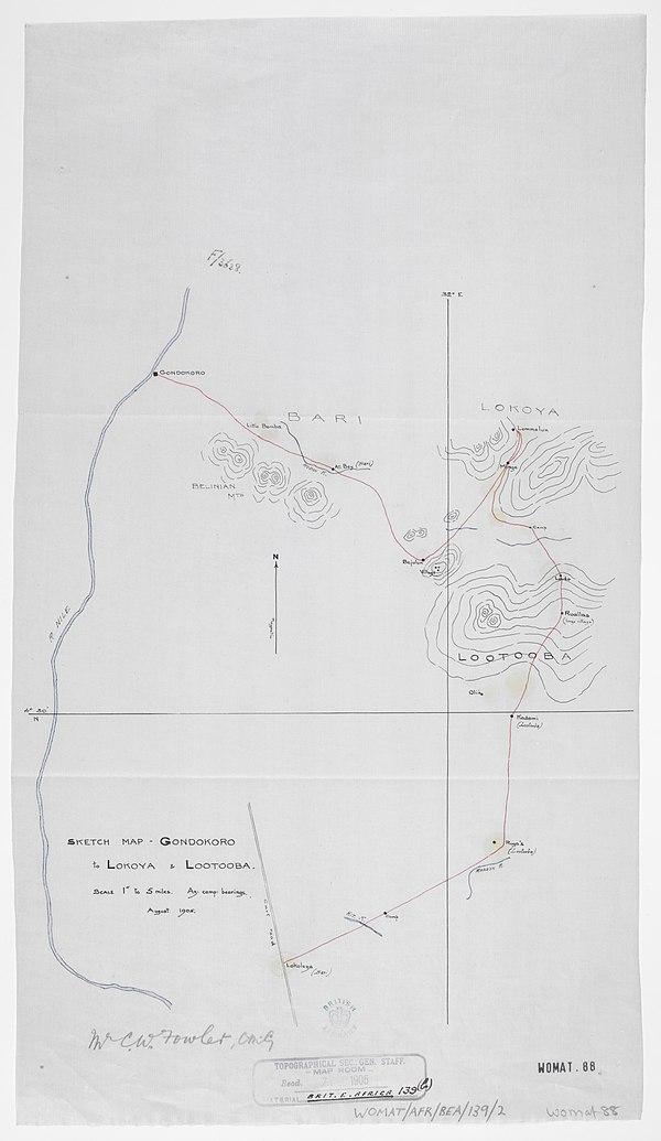 600px sketch map   gondokoro to lokoya %26 lootooba ... august 1905. %28womat afr bea 139 2%29