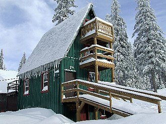 Spout Springs Ski Area - Image: Ski Patrol building at Spout Springs Ski Area