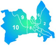 Le 10 municipalità di Skopje