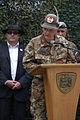 Slovesnost na trgu Leona Štuklja ob začetku mednarodne vojaške vaje Zvita podlasica 2014 9.jpg