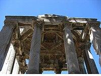 Smallscale Mausolus Mausoleum (Gumuskesen) Monument Milas Turkey.JPG