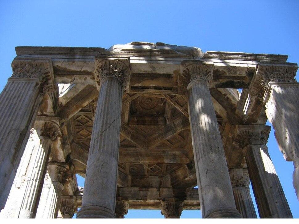 Smallscale Mausolus Mausoleum (Gumuskesen) Monument Milas Turkey