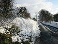 Snow drift on the Brambling road. - geograph.org.uk - 302914.jpg