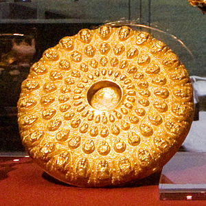 Patera - Golden phiale from the Panagyurishte Treasure, Bulgaria (4th–3rd century BC, possibly by Thracian kings)