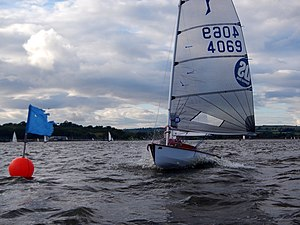 Solo (dinghy) - Solo4069 at Chew Valley Lake Sailing Club.
