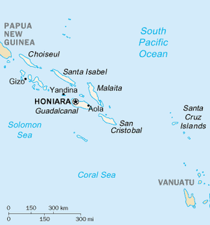 Regional Assistance Mission to Solomon Islands - Map of the Solomon Islands