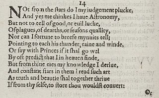 Sonnet 14 poem by William Shakespeare