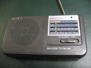 TV radio - Overall view of portable radio.
