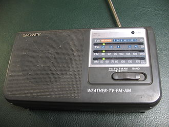 NOAA Weather Radio - Sony ICF-36 portable radio, with Weather Radio reception capability.