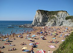 One of Bilbao's popular beaches