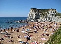 One of Bilbao's popular beaches