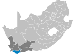 Ligging Overberg District Municipality