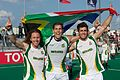 South Africa players celebrates qualification to 2012 Summer Olympic.jpg