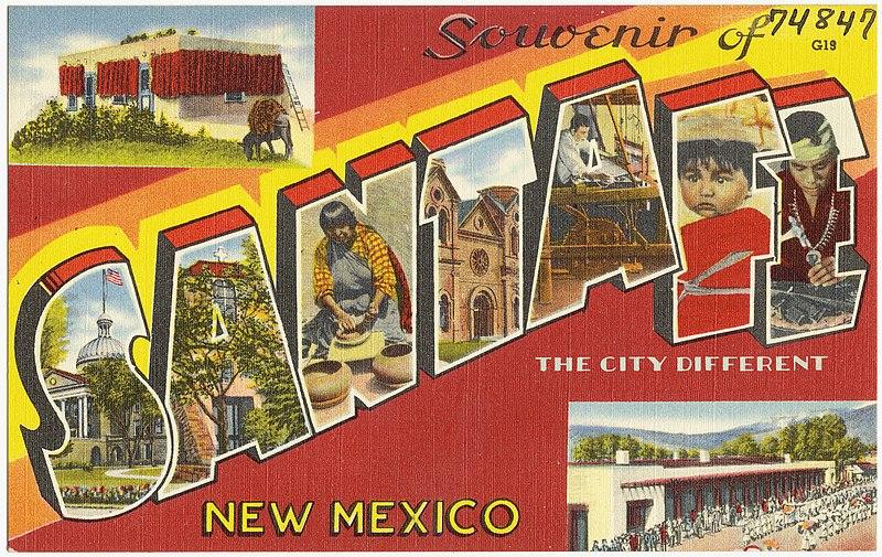 File:Souvenir of Santa Fe, the city different, New Mexico.jpg