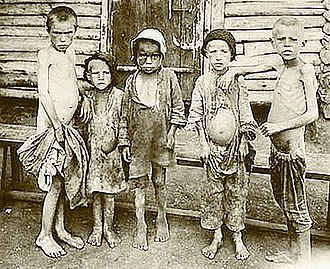 Droughts and famines in Russia and the Soviet Union - Starving children in 1922