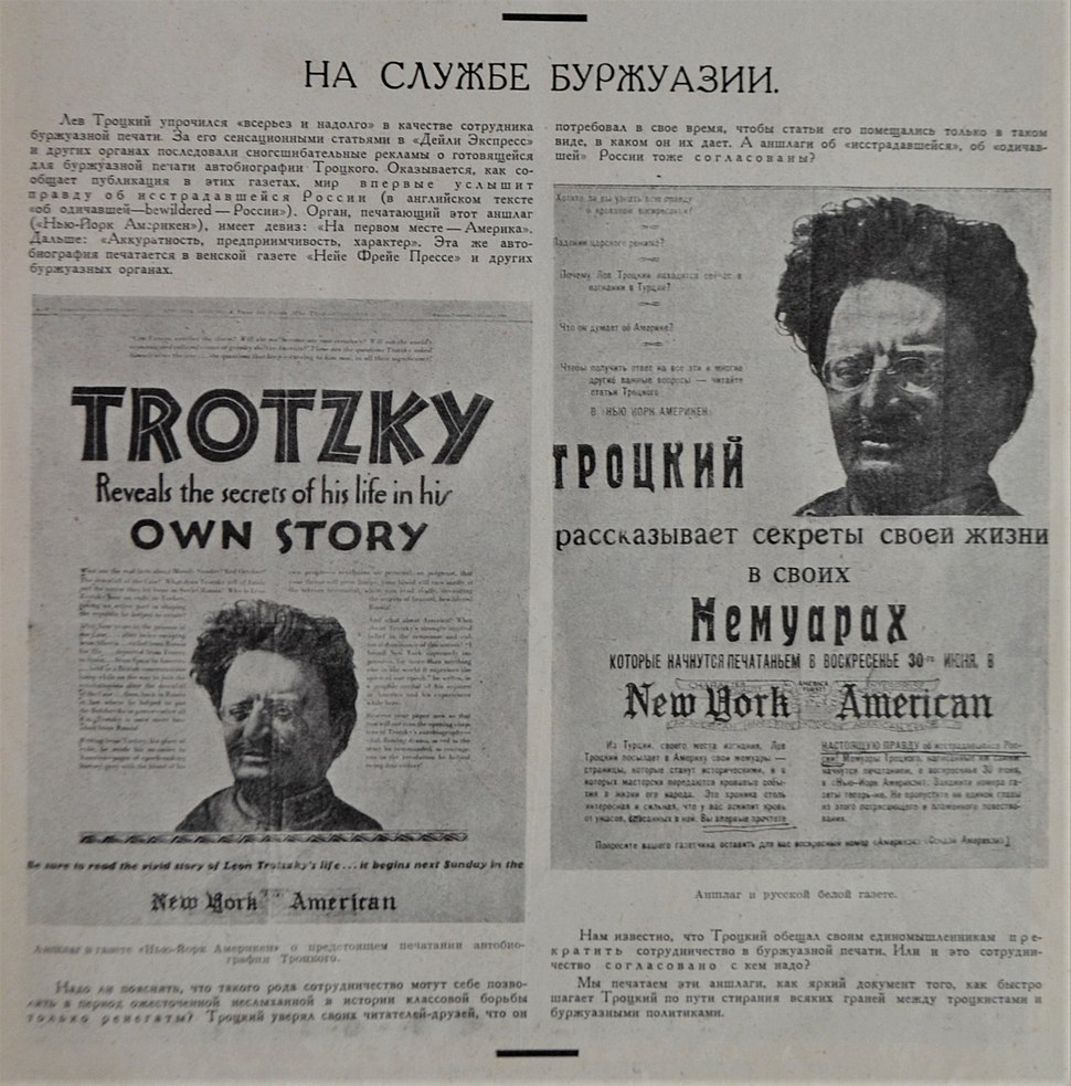 Soviet reaction to Leon Trotsky publication
