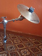 Splash cymbal on a separate boom stand