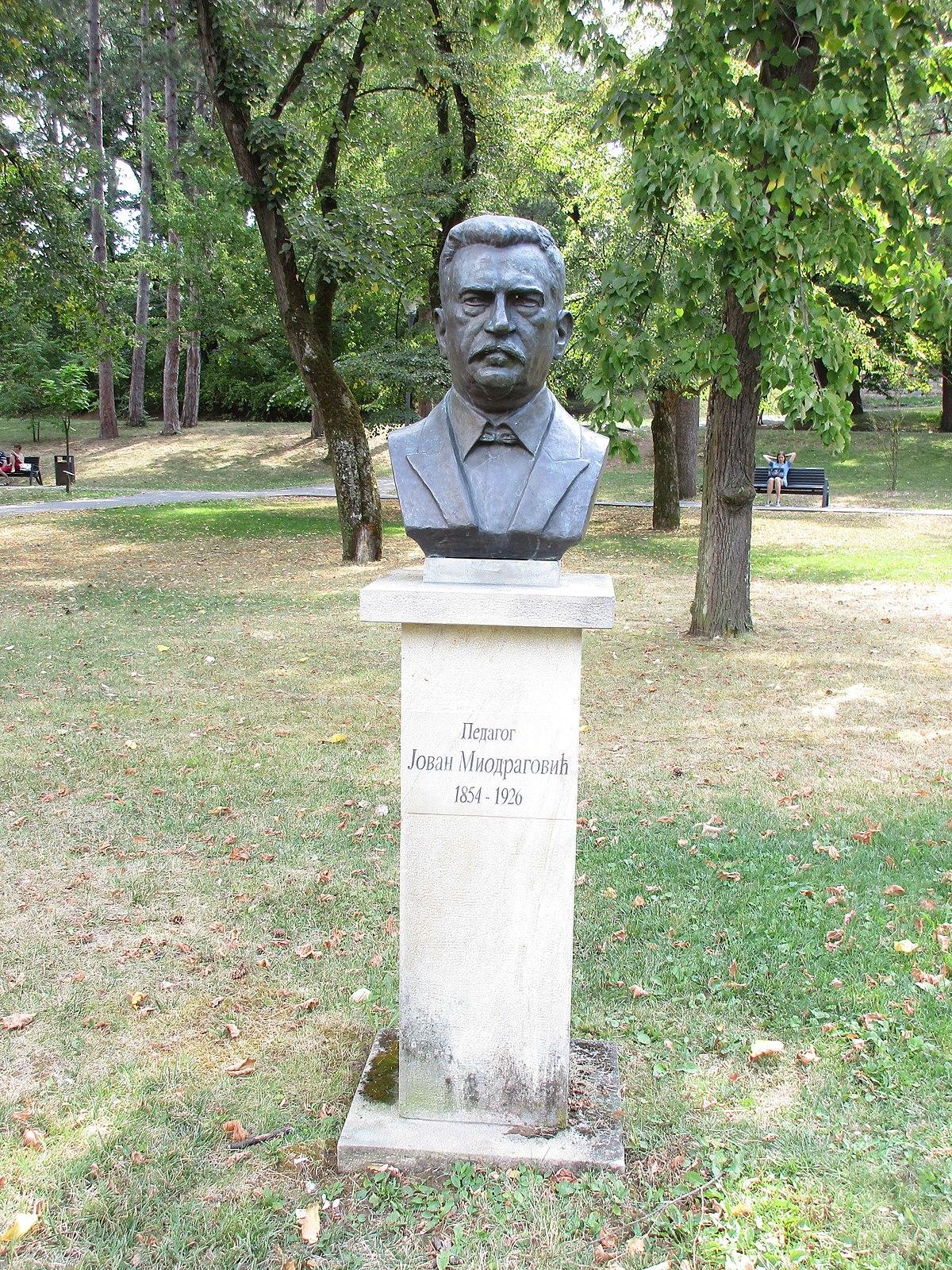 File Spomenik Jovanu Miodragovicu Vrnjacka Banja Jpg Wikimedia