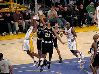 Lakers–Spurs rivalry - Image: Spurs vs Lakers