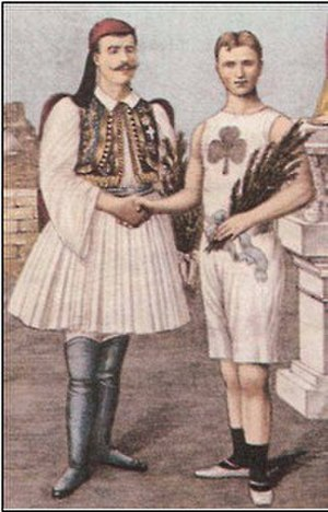 Billy Sherring - With Spyridon Louis, Athens, 1906
