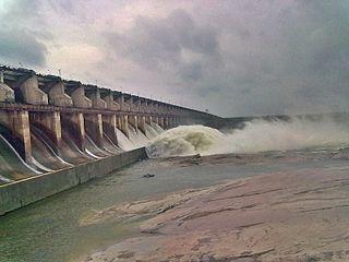 Sriram Sagar Project dam in Nizamabad, Telangana, India