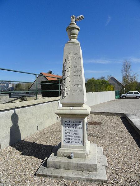 Monument aux morts de Saint-Mard-lès-Rouffy (France), à proximité de l'église.