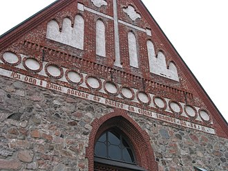 Church of St. Lawrence, Vantaa - Image: St. Lawrence Church in Vantaa gable