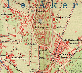 St. Hanshaugen - Image: St Hanshaugen map 1900