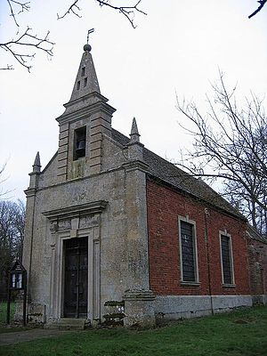 St John's Church, Little Gidding - The Church of Saint John the Evangelist, erected in 1714 to replace an earlier church at the site