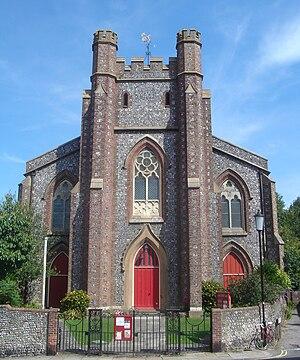 Church of St John sub Castro, Lewes - Image: St John sub Castro Church, Lewes (Io E Code 292973)